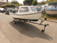 Orkney Spinner - 13ft - Mariner Outboard - Trailer - Quality Boat & Great Fun