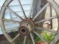 Large Old Wagon Wheel Great For Display !