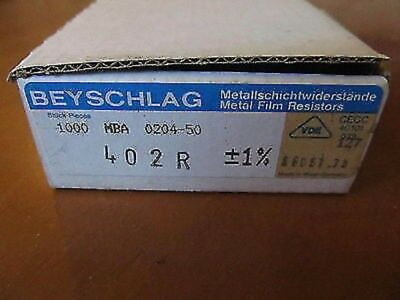 Lots Of 1000 Pcs Beyschlag 402 R -1 Metal Film Resistor