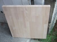 Section of beech worktop 38mm thick