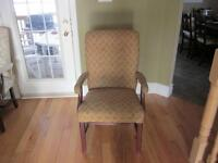 Upholstered Solid Captain Armchair