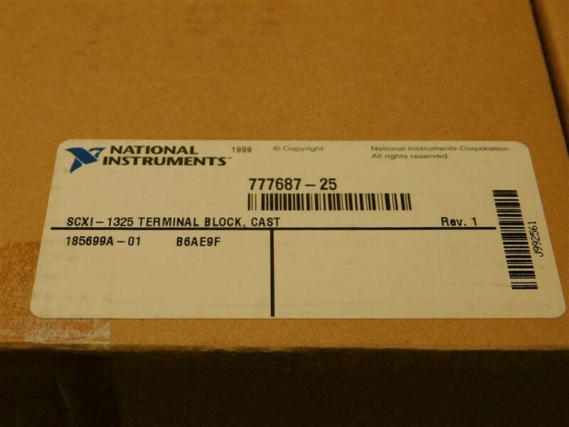 National Instruments SCXI-1325 48Pos Terminal Block Assembly Die-Cast Case