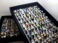 Lot de 25 / 50/100/ 400 acier inoxydable Bague Homme Femme mariage Bijoux anneau