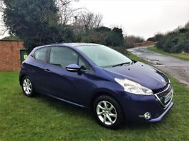 PEUGEOT 208 1.0 Active, Stunning Low Mileage Example (blue) 2013