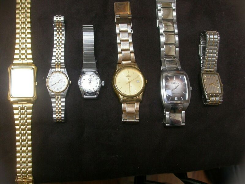 Lot of 6 Watches, Citizen, Seiko, Geneva, More
