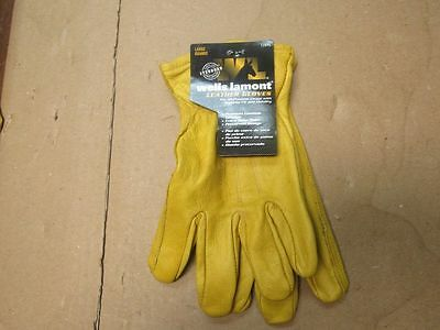 Wells Lamont Premium Leather Work Gloves Lot Of 3 Pairs Large 1209l- 0247-a