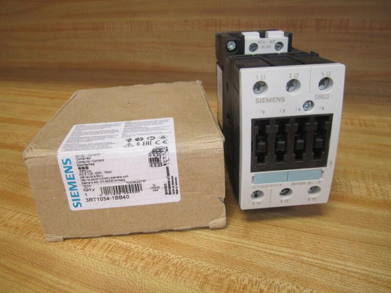 Siemens 3RT1034-1BB40 Contactor 3RT10341BB40