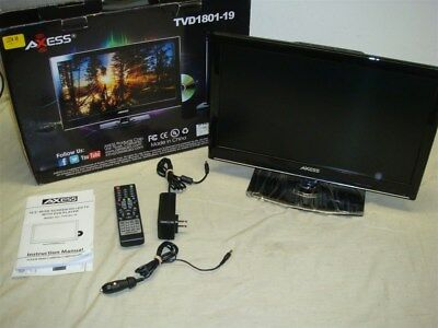 """TVAXESS TVD1801-19 19"""" LED AC/DC TV/DVD COMBO HDTV W HDMI & REMOTE -READ!"""