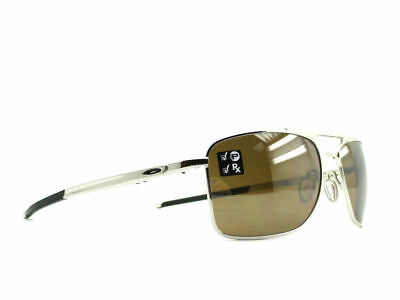 Oakley Gauge 8 L POLARIZED Sunglasses OO4124-0562 Chrome Frame W/ Tungsten Lens