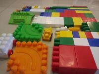 Lego Mega Bloks large blocks approx 100 pieces