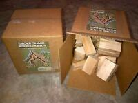 4 of the 10lb boxes of wood chunks for smoker bbq 14 varieties