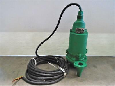Myers 1-14 Npt Submersible Wastewaster Grinder Pump Cast Iron Wgl20-21