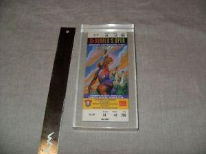 VIP 1993 NBA BASKETBALL TICKET FRAMED Munich + Bobblehead