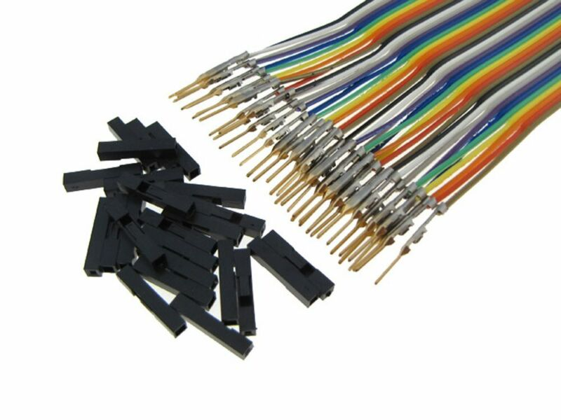 HQ 40-Pin M-M Zippable Color Jumper Wire 2.54mm Pre-Crimped Gold Plated 40CM