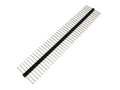 1x40 Pin 40p 2.54mm Straight Male Header Body Centered 15mm - Black- Pack Of 5