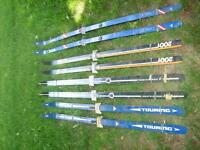6 pair's of Cross Country Ski's and Poles