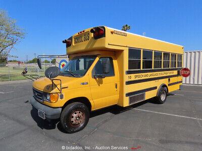 2003 Ford E-450 24 Passenger Collins School Bus Transportation 7.3L bidadoo