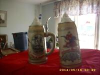 2 collector beer steins