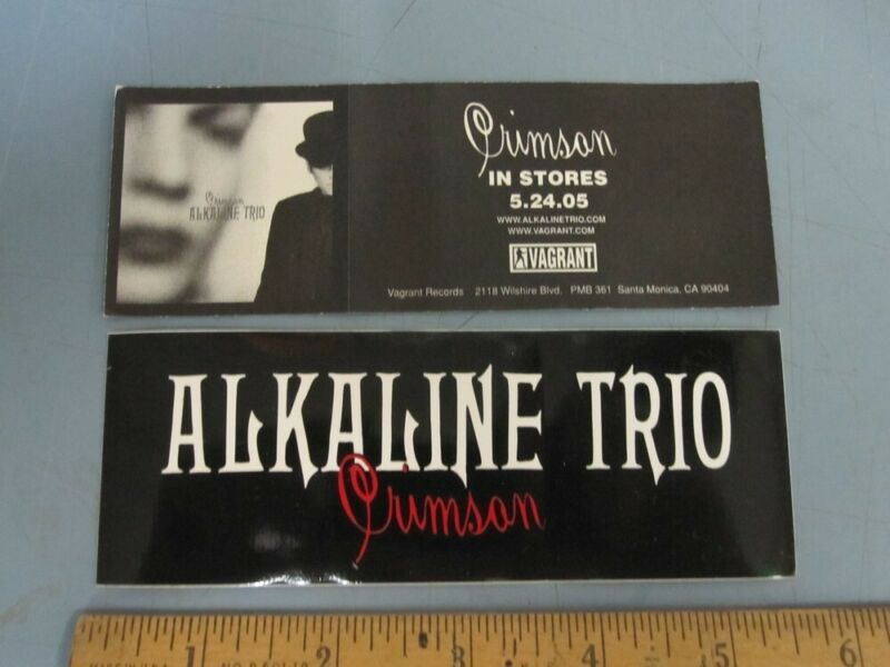Alkaline Trio 2005 Crimson Promotional Sticker New Old Stock Flawless Condition