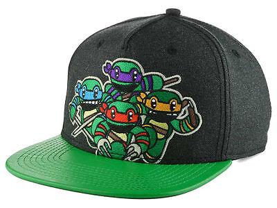 Teenage Mutant Ninja Turtles Attack Animigos Cartoon Green TMNT Snapback Hat Cap