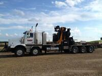 WESTERN STAR WITH EFFER 750 E8 38 TON PICKER WITH 25 TON WINCH
