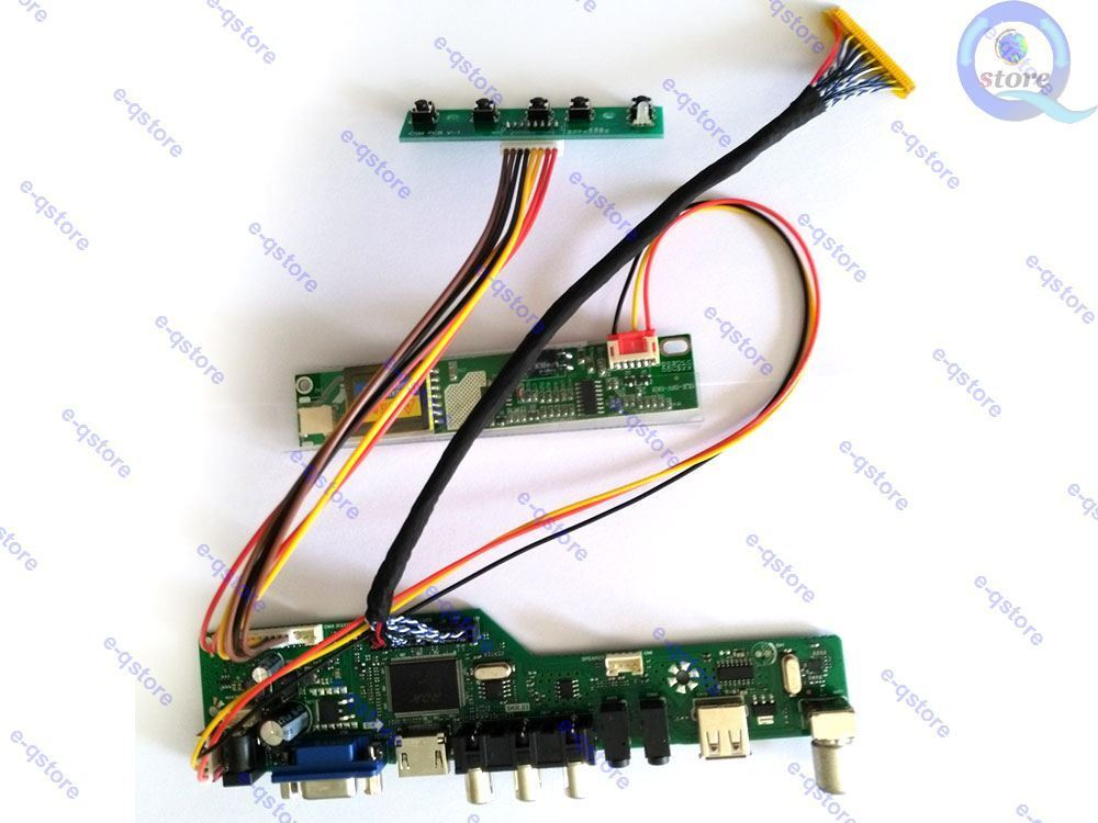 HDMI USB AV VGA ATV LCD Controller Driver Board For CLAA154WA01 1280x800 Screen