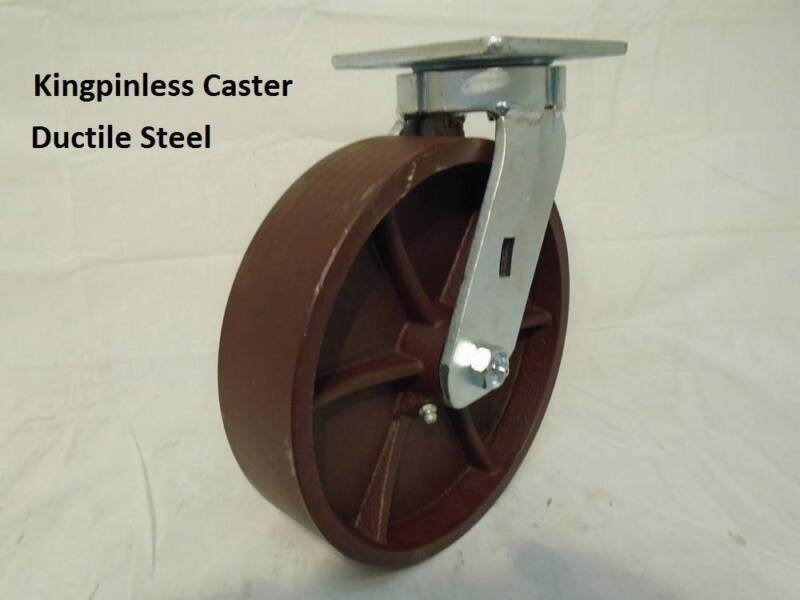 "8"" x 2"" Swivel Caster Kingpinless Ductile Steel Wheel 2000lb each"