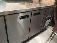 4 Door Polar Prep Counter Fridge for Restaurant/Cafe Kitchen