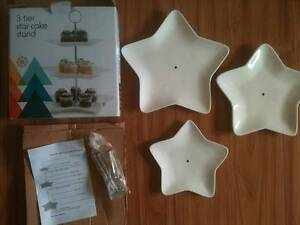 3 Tier Christmas Star Cake Stand - Unused Bexley Rockdale Area Preview