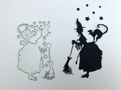 Making Paper Halloween Decorations (Halloween Witch Hat Decor Scrapbooking Cutting Die for Paper Card Frame)
