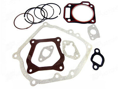 New Cylinder Head Full Gasket Set+Piston Rings for Honda GX160 GX200 5.5hp 6.5hp