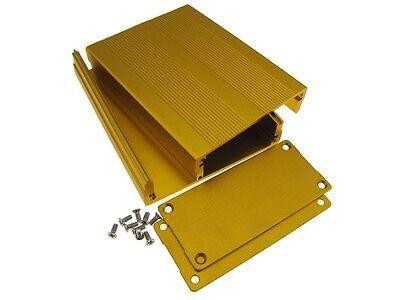 Hq Aluminum Project Box Enclosure Diy 1007635mm - Gold