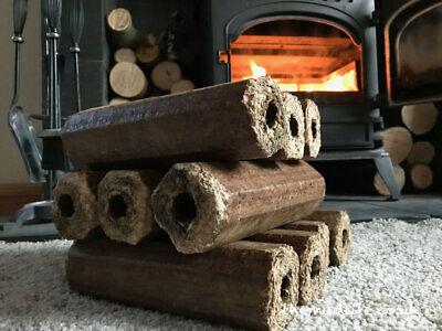 ultra heat Hardwood 24 Heat Logs Firewood Briquettes Nuggets Fuel Logs, 20kg