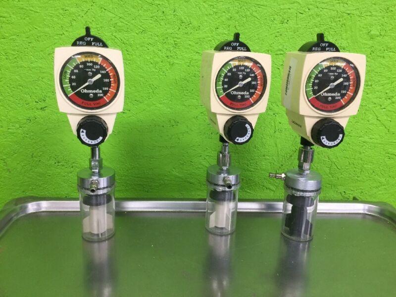 Ohmeda 200 Wall Continuous Vacuum Regulator 0-200mmHg