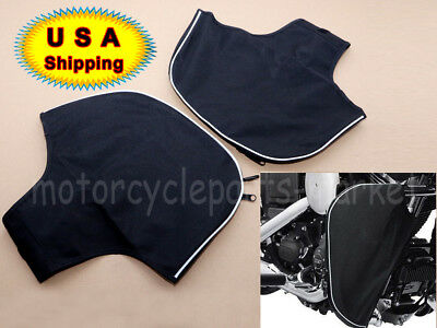 - Soft Lowers Chaps Leg Warmer for Harley Touring Street Road Glide Engine Guard
