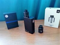 Authentic Tesla Two Sub Ohm E Shisha Vape Mod + Vaporesso Transformer RDA Black