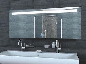 badspiegel led beleuchtung mit uhr radio mp3 usb und touch schalter 60 160cm lmp ebay. Black Bedroom Furniture Sets. Home Design Ideas