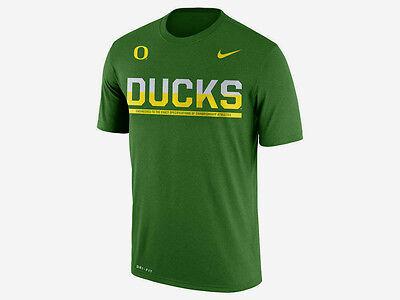 NIKE OREGON DUCKS NCAA COLLEGE LEGEND DRI-FIT SIDELINE TEAM COLORS T-SHIRT NWT (Ncaa Oregon Ducks)