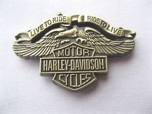 Metal Pin Badge Brooch Authentic Harley Davidson Biker
