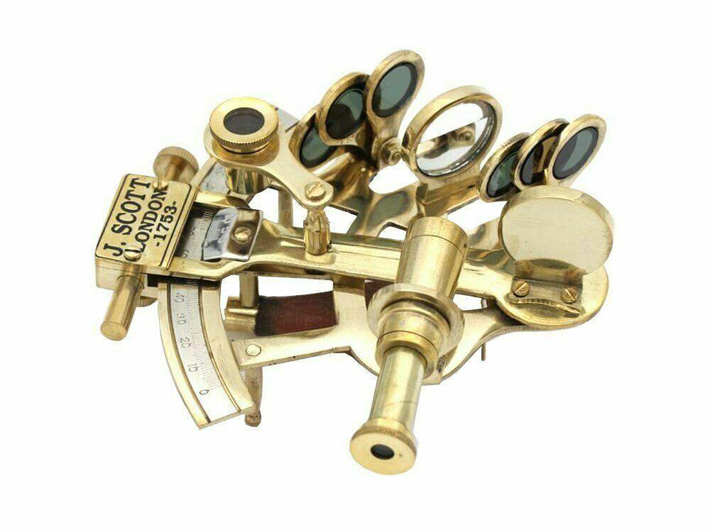 Vintage Sextant J.Scott London Solid Brass Pocket 5 Sextant Handmade Gift - $19.00