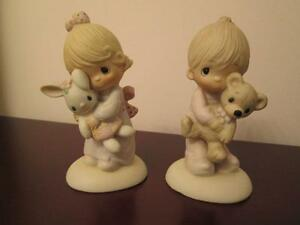$30 FOR THE PAIR OF PRECIOUS MOMENTS BOY & GIRL FIGURINES London Ontario image 1
