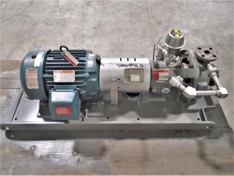 Flowserve Durco MK3 STD Centrifugal Pump 1K1.5X1-82RV/6.25 DCI Body, 10 HP Motor