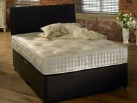 PAYMENT ON Delivery *** Brand New Double Divan Bed with Superb Orthopaedic Mattress Only £129