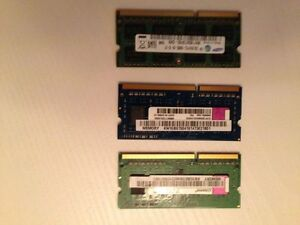 DDR3 Laptop or Netbook Sodim RAM - Kingston and Samsung
