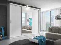 🌺🌺BRAND NEW🌺🌺 GERMAN 2 DOOR BERLIN SLIDING WARDROBE - ALSO AVAILABLE 3 DOOR SLIDER - BLACK WHITE