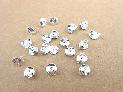 Sterling Silver Butterfly BACK STOPPERS Earrings Jewelry Findings 50PCS 925 ()