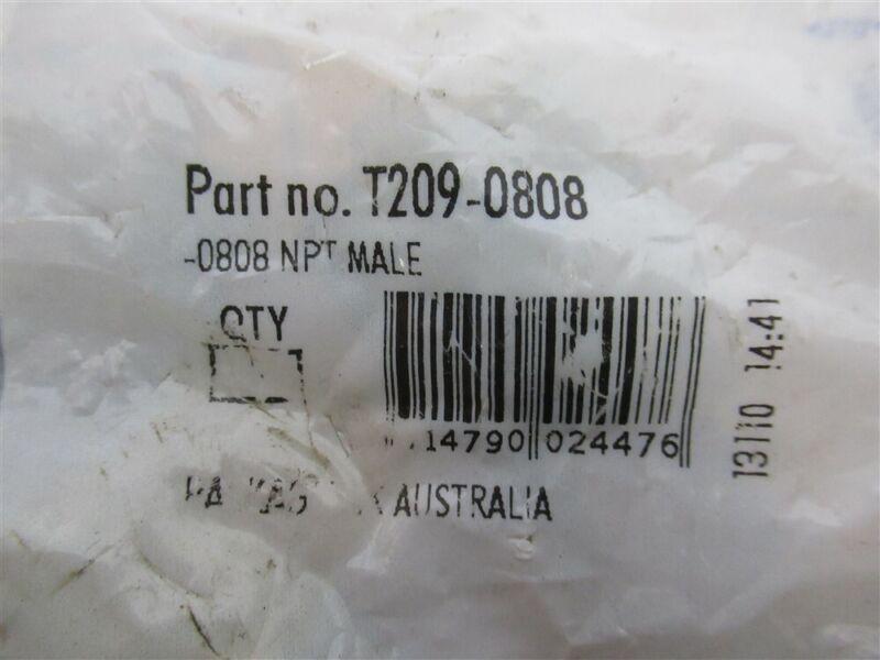 """Ryco, T209-0808, Bitelok Crimp Coupling 1/2"""" MNPT (Bag 5)"""