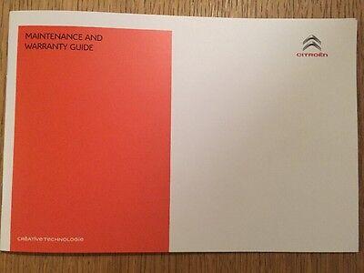 CITROEN SERVICE HISTORY & MAINTENANCE RECORD BOOK GENUINE NEW