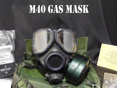 US Military Gas Mask - M40 -Avon Chemical Biological Respirator - USGI - NIB LRG