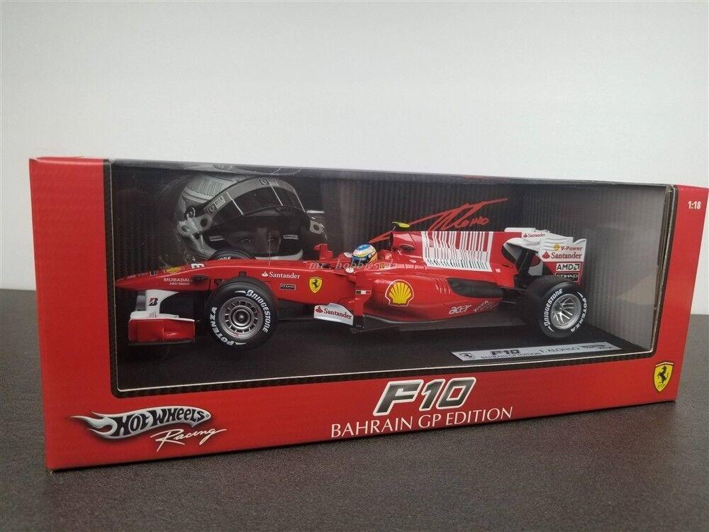 Hot Wheels T6287 Ferrari F10 #8 F.Alonso GP Bahrain 1//18